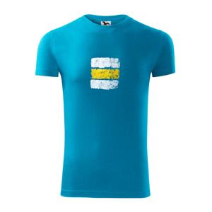 Turistická značka - žltá - Viper FIT pánske tričko