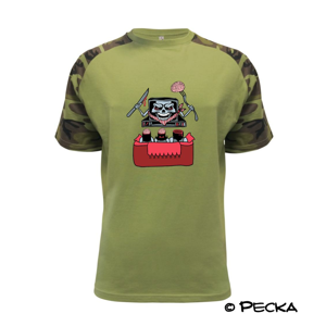 TV vyžieračka mozgov (Pecka design) - Raglan Military