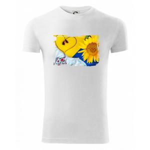 Ukrajina slnečnice a kroj - Viper FIT pánske tričko