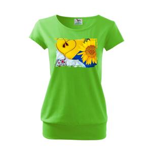 Ukrajina slnečnice a kroj - Voľné tričko city