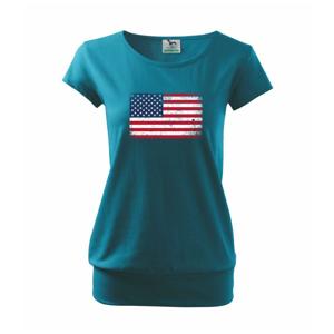 USA vlajka - Voľné tričko city