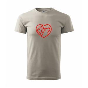 Veterinár srdce - Heavy new - tričko pánske