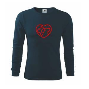 Veterinár srdce - Tričko s dlhým rukávom FIT-T long sleeve