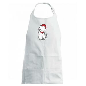Vianočná mačka mávajúca - Detská zástera na varenie