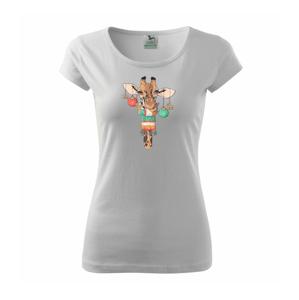 Vianočná žirafa - Pure dámske tričko