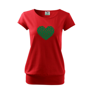 Vianočné jelene v srdci - Voľné tričko city