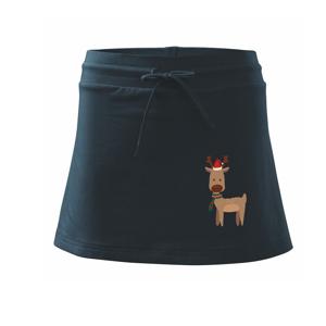 Vianočný sob - Športová sukne - two in one