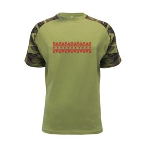 Vianočný vzor - jeleň a vločka - Raglan Military