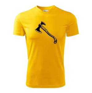 Viking sekera - Pánske tričko Fantasy športové