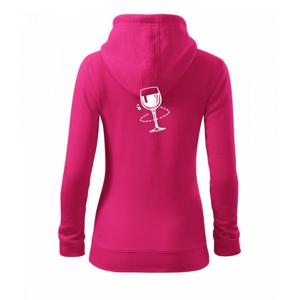 Víno someliér - Mikina dámska trendy zipper s kapucňou