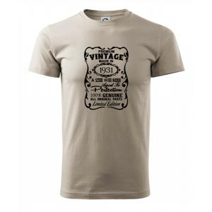 Vintage Etiketa - 1931 - Heavy new - tričko pánske