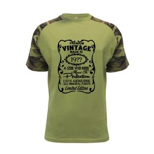 Vintage Etiketa - ročník podľa vás - Raglan Military