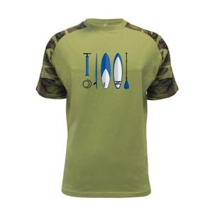 - Volné triko city - Raglan Military