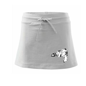 Vŕtačka kreslená - Športová sukne - two in one
