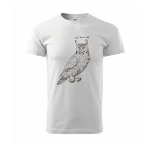 Výr bielobradý great horned owl - Tričko Basic Extra veľké