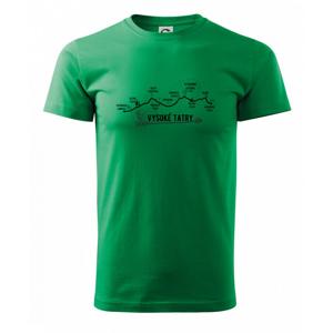 Vysoke Tatry - profil cesty - Heavy new - tričko pánske
