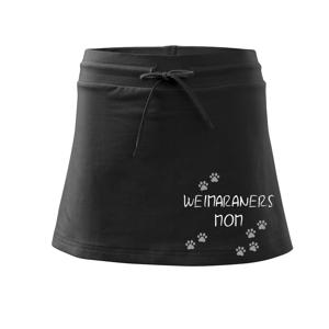 Weimaraners mom (Weimarský stavač)  (Reflexné labky) - Športová sukne - two in one