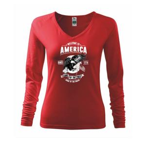 Welcome To America - Tričko dámske Elegance