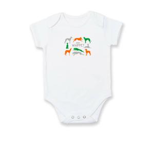 Whippet farebný - Dojčenské body