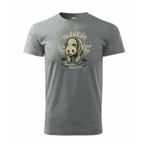 Wildlife medveď - Heavy new - tričko pánske