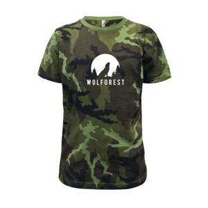 Wolforest - Detské maskáčové tričko
