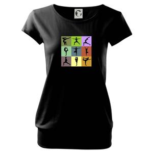 Yoga abeceda - Voľné tričko city