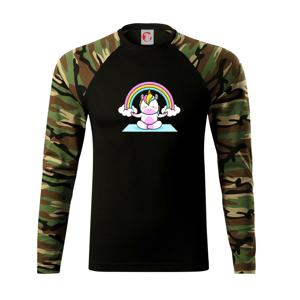 Yoga jednorožec - dúha - Camouflage LS