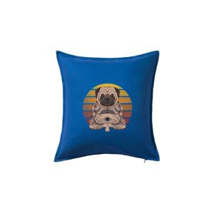 Yoga meditace - pug - Vankúš 50x50