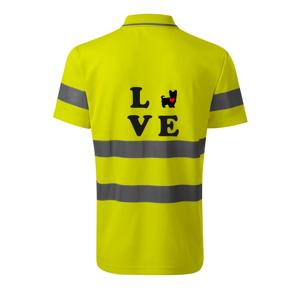 Yorkshire terier love - HV Runway 2V9 - Reflexné polokošeľa