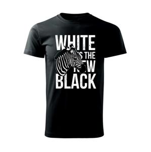 Zebra bw - Tričko Basic Extra veľké