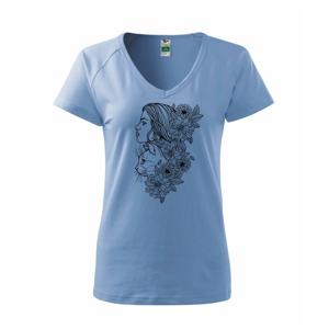 Žena a kočka - kreslená - Tričko dámske Dream