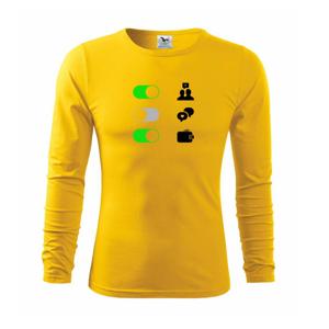 Životné hodnoty - zapnúť vypnúť - Tričko s dlhým rukávom FIT-T long sleeve