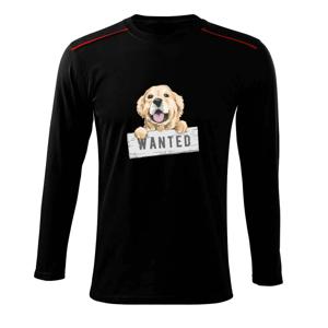 Zlatý retriever - šteniatko wanted - Tričko s dlhým rukávom Long Sleeve