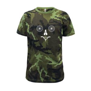 Zložená cyclo tvár - Detské maskáčové tričko