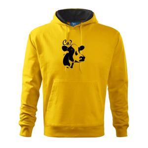 Zmätená krava - Mikina s kapucňou hooded sweater