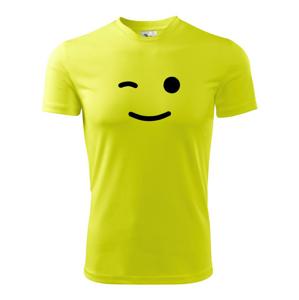 Žmurkajúci smajlík - Pánske tričko Fantasy športové