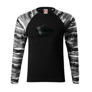 Zošité triko - Camouflage LS
