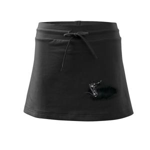 Zošité triko - Športová sukne - two in one