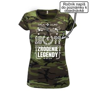 Zrodenie legendy - pre cyklistu - Dámske maskáčové tričko