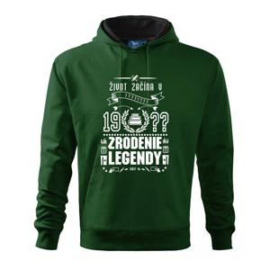 Zrodenie legendy - pre učiteľov - Mikina s kapucňou hooded sweater