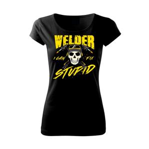 Zvárač - kreslená lebka - Pure dámske tričko