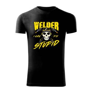 Zvárač - kreslená lebka - Viper FIT pánske tričko