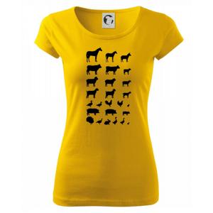 Zvieratká z dediny - Pure dámske tričko